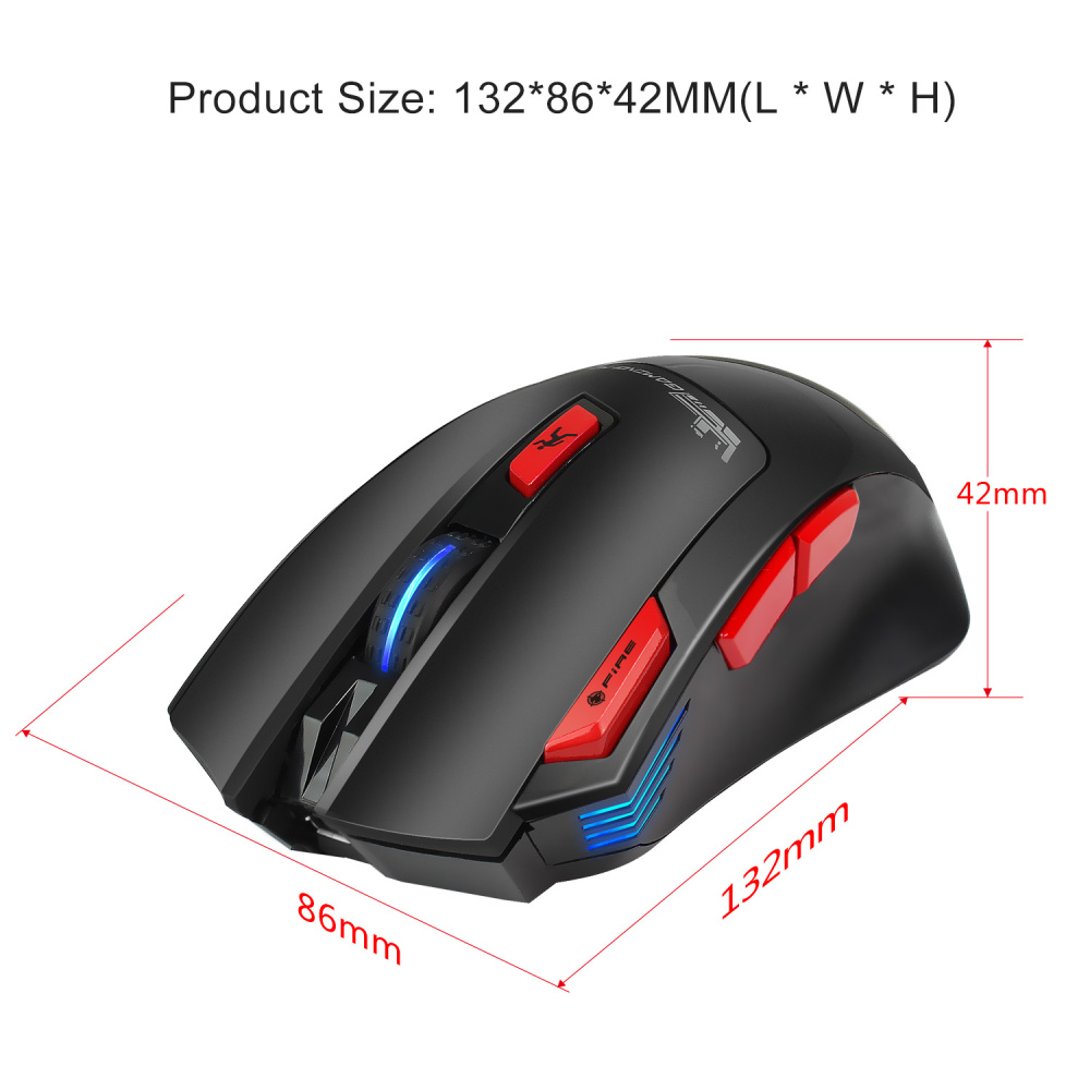 Image 4 - HXSJ new wireless 2.4G gaming mouse wireless mouse 7 key macro definition 4400 adjustable DPI office PC notebook mice-in Mice from Computer & Office