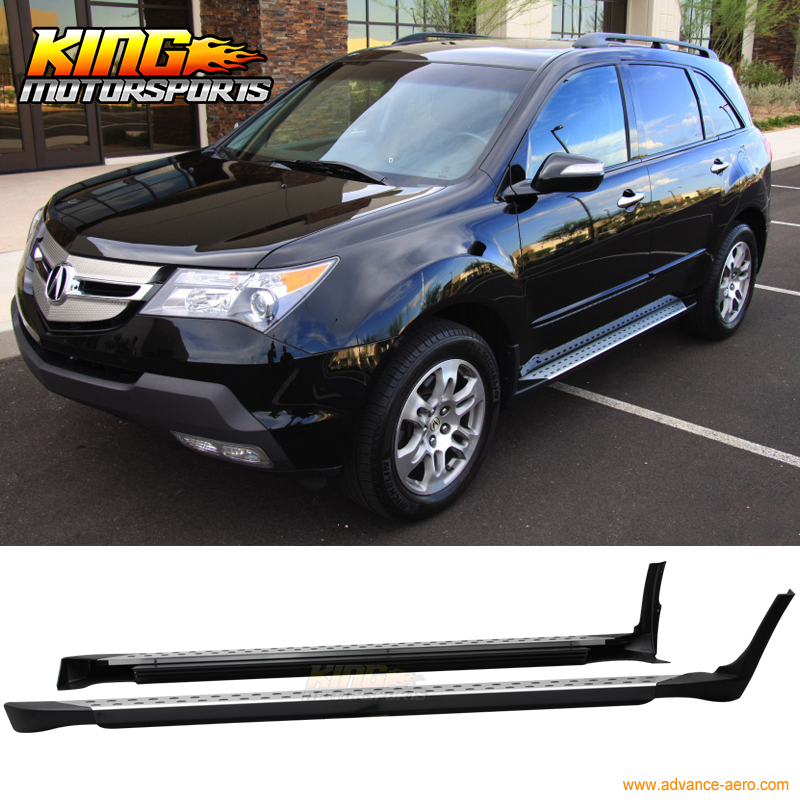 Fit 07 08 09 Acura MDX Side Step Nerf Bars Rails Running