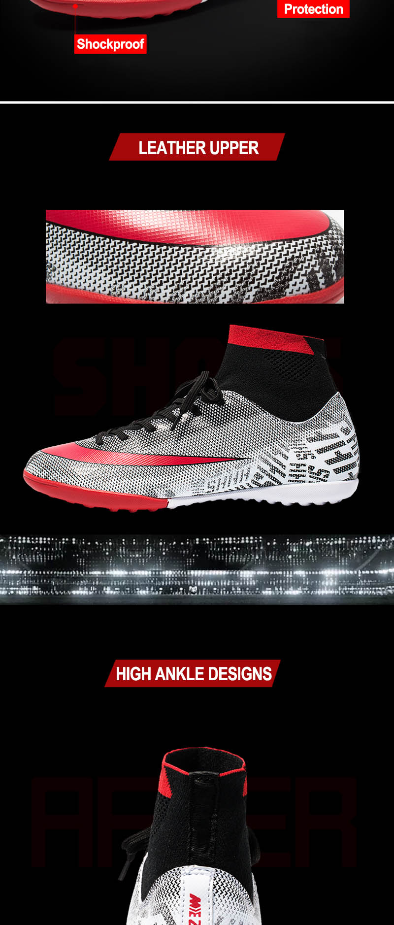Relvado indoor sapatos de futebol dos homens