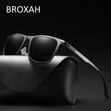 цена BROXAH Retro Polarized Sunglasses Men Brand Designer 2019 Metal Driving Sun Glasses for Men Shades UV400 Lunette De Soleil Homme