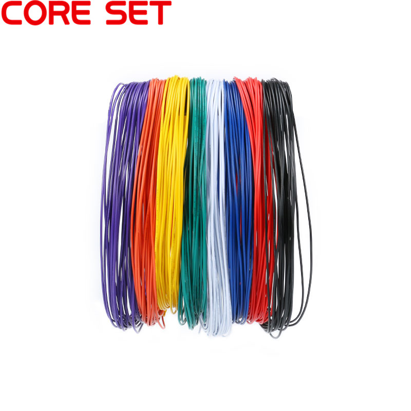 1 Set 10 Meters UL 1007 Wire 24AWG 1.4mm PVC Wire Electronic Cable UL Certification Insulated LED Cable For DIY Connect 8 Color 1meter red 1meter black color silicon wire 10awg 12awg 14awg 16 awg flexible silicone wire for rc lipo battery connect cable
