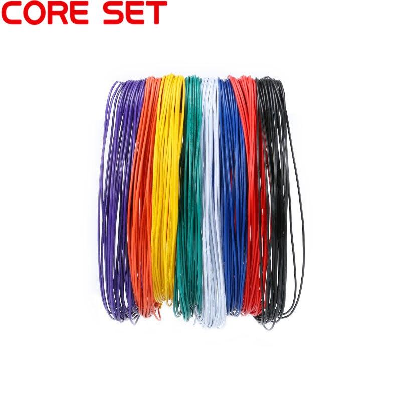 1 satz 10 meter UL 1007 Draht 24AWG 1,4mm PVC Draht Elektronische Kabel UL Zertifizierung Isolierte LED Kabel Für DIY Verbinden 8 Farbe