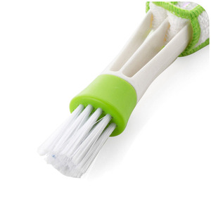 Image 5 - 1pcs Long Durable 2 In 1 Double Slider Car Air conditioner Outlet Cleaning Tool Outlet Window Cleaning Multi purpose Brush