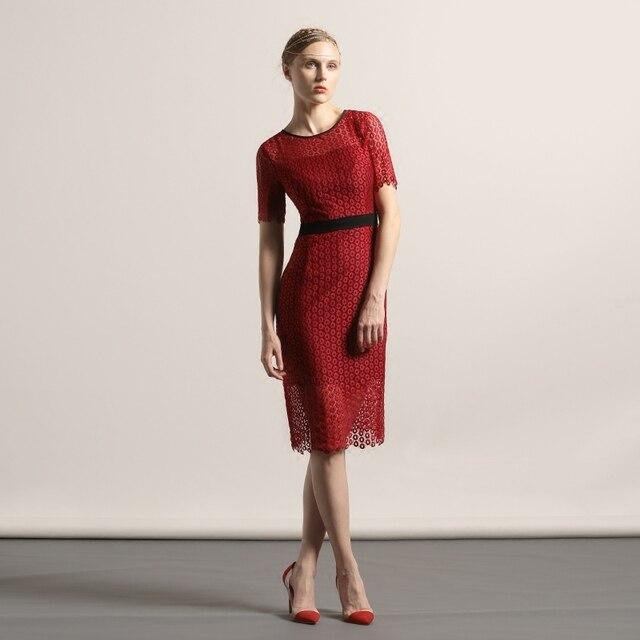 Summer Dress Women Sexy Short Sleevel Red Slim Plus Size Dresses