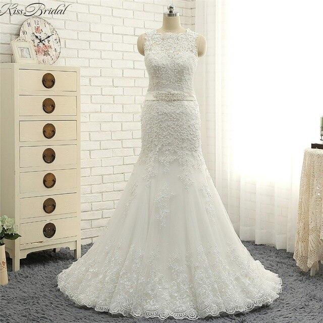 Schönes Design Vintage Spitze Hochzeit Dresess 2018 Sleeveless Sweep ...