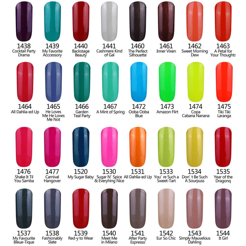 Gel de Ángel sonriente esmalte de uñas 236 colores de moda remojo LED/UV esmalte de uñas capa Base superior art 1 piezas de 8 ml de Gel de uñas 01