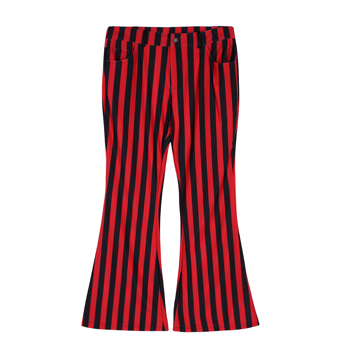 Halloween Party Costume for Men Vintage Stripe Pant Male Long Pant Stretch Bell Bottom Trousers Western Streetwear Clothes Homme 17