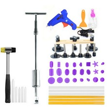 47 Pieces in One Car Paintless Dent Repair Tool Set Dent Puller Kit PDR Tools Slide Hammer 24 Pulling Tabs