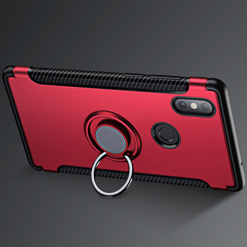 Suntaiho Finger Ring Holder Shockproof Combo Phone Case For Xiaomi Redmi Note 5A for Redmi 4X 4A 5 Plus Back Cover pocophone F1