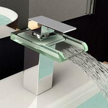 Freeshipping Bad Wasserfall Wasserhahn Armaturen für das Bad Wasserfall Waschtischarmaturen Waschbecken Wasserhahn