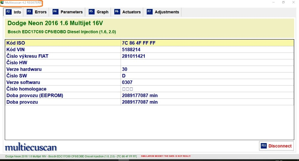 MultiEcuScan V4.2 FULL Registered