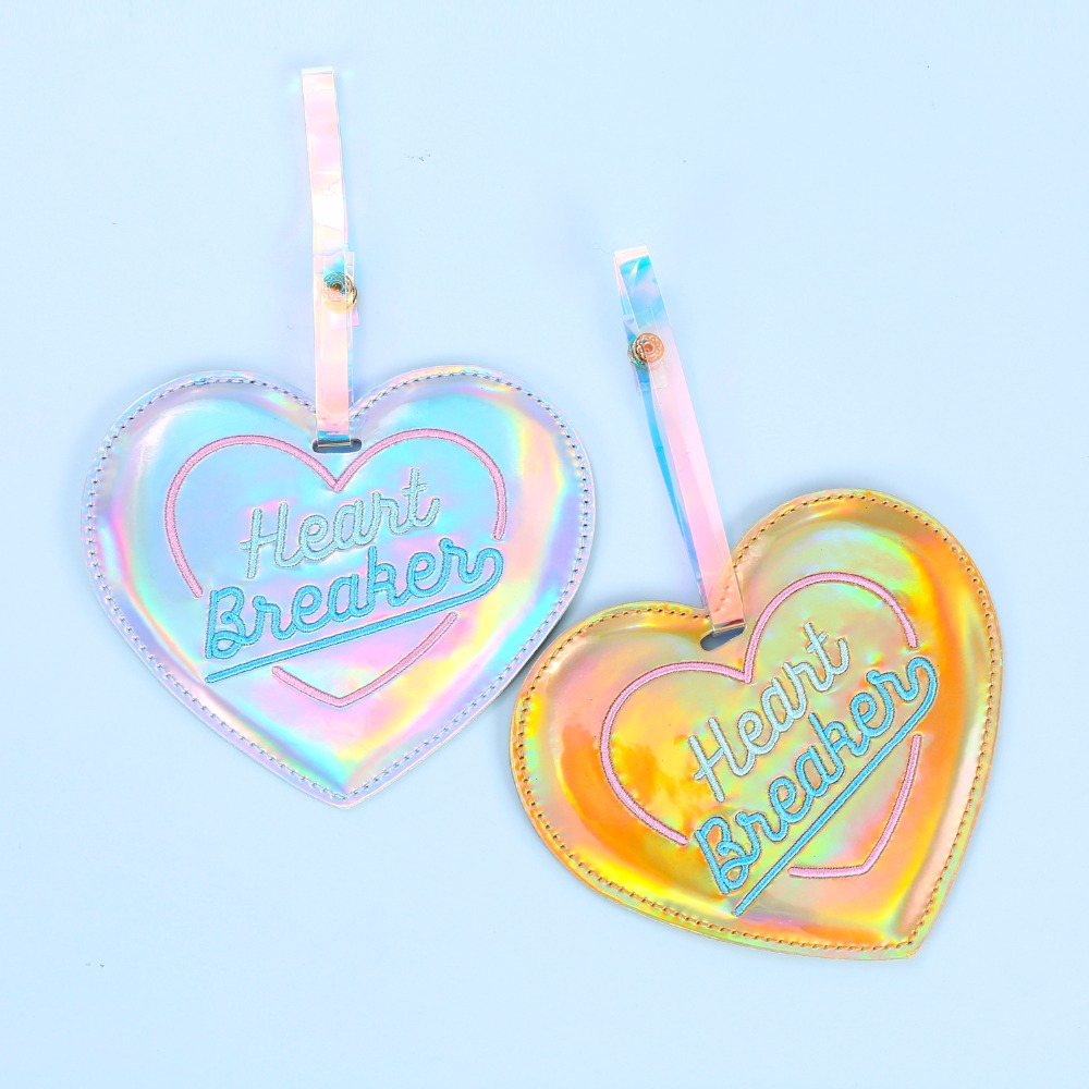 Love Hearts Baggage Tag For Suitcase Bag Accessories 2 Pack Luggage Tags