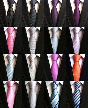 8CM Fashion Classic Men's Stripe Tie Purple White Blue Black Pink Lavender Jacquard Woven 100% Silk Tie Necktie Polka Dots Ties parris afton bonds lavender blue