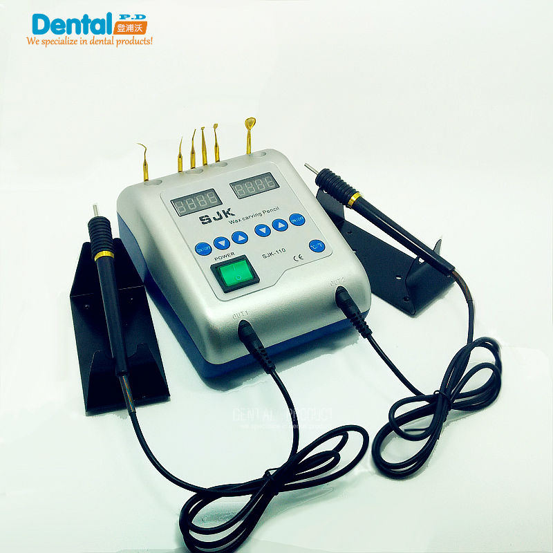 1set Dental lab Udstyr Electric Wax Carving Knife Machine Dobbelt Pen 6 Wax Tips Wax Carving Pen