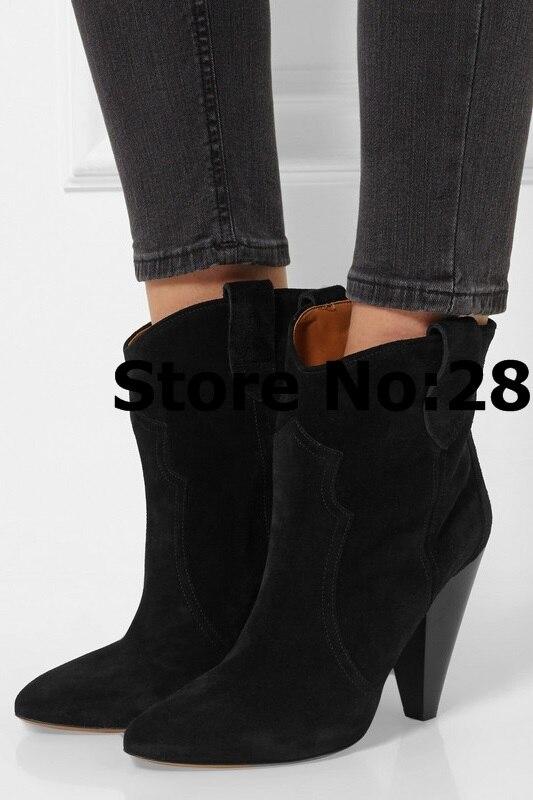 on 1 Slip Chaussures Rome 2 Automne Picture 3 picture Noir Hiver Brun Cheville Courtes picture Suede picture Bottes Hauts Femmes Conçu 4 Talons Aiguilles Femme ES6SntqxwU