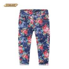 Срез случайных детских подходят цветочные новых девочка джинсы лето тонкий девушки