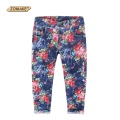 2017 New Children's Jeans Fashion Summer Thin Section Girls Jeans Fit for 3-9y Casual Children Trousers Baby Girl Floral Pants
