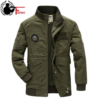 Bomber Jacket Men Military Army Pilot Male Jacket Coat Zipper Stand Collar Zip Us Air Force Clothing Black Green Spring Autumn