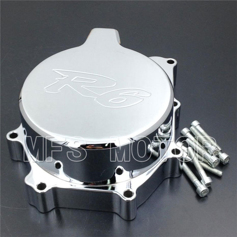 Motorcycle Part Left side Engine Stator cover For Yamaha YZF R6 YZF-R6 1999 2000 2001 2002 Chrome