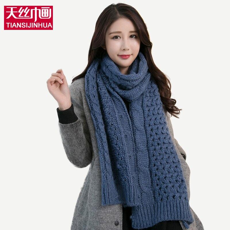 ⑧2016 mujeres del invierno tejer bufanda infinito Bufandas punto ...