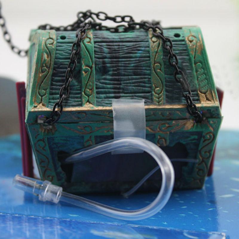 Thesari më i ri i Aquarium Ornament Treasure Hunter Thesari Figura - Produkte për kafshet shtëpiake - Foto 4