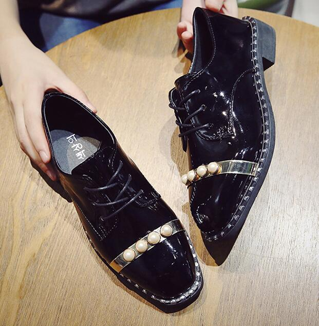 High Quality Women oxfords Flats Platform shoes Patent Leather Tassel Slip-on pointed Creeper retro Brogue Loafers shoes party qmn women crystal embellished natural suede brogue shoes women square toe platform oxfords shoes woman genuine leather flats