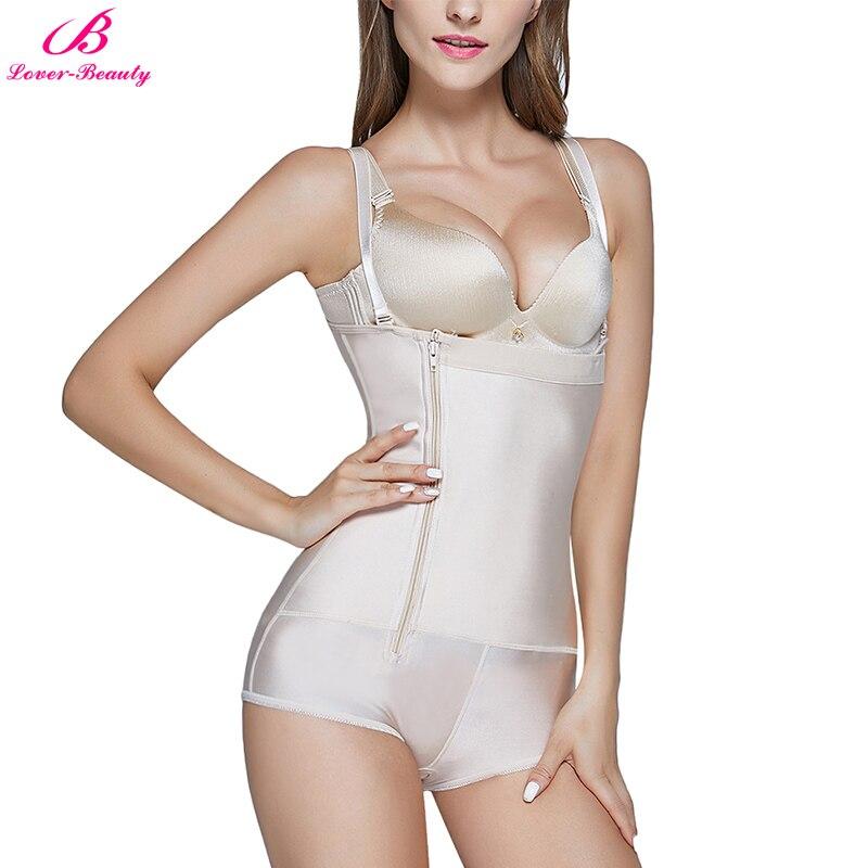 Amant-beauté grande taille XS-3XL Latex pleine gaine amincissante femme fermeture à glissière ventre contrôle Slip Slim Shaper bout à bout Lifter body