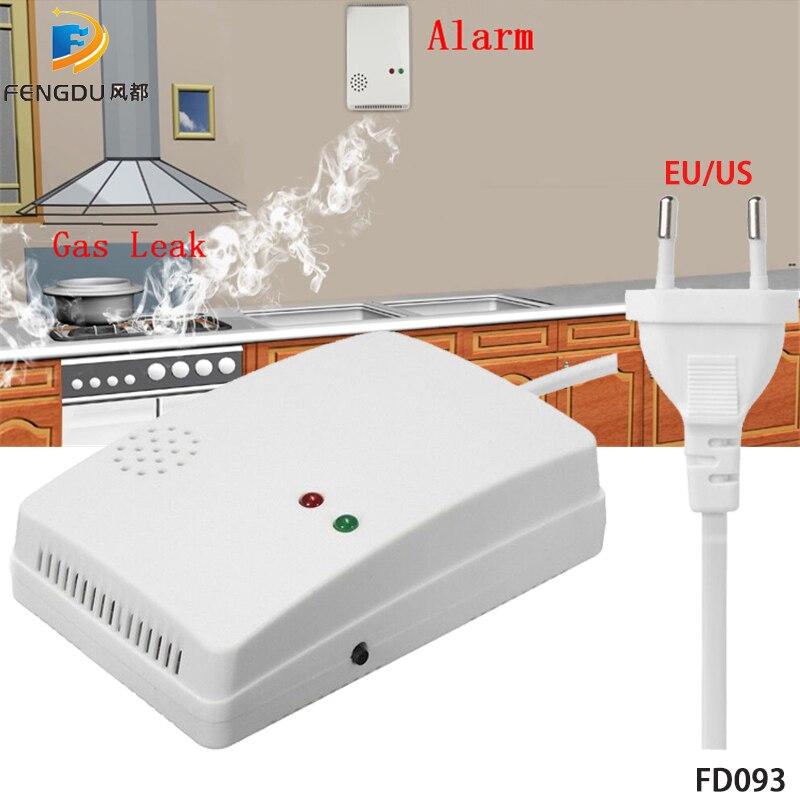 Portable Wall Mounted Independent Gas Detector Alarm Gas Leak Detector Tester Propane Methane Safe Natural Gas Alarm Sensor