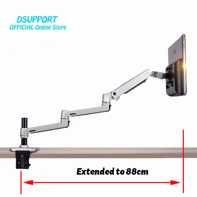 Aluminum Alloy Full Motion Free Lifting Ultra Long Arm 10-30 inch LED LCD Monitor Holder Lengthen Arm Monitor Mount Bracket leshp adjustable double arm 27 inch monitor holder double arm tablet pc stands 360 degree rotatable computer desk free shipping