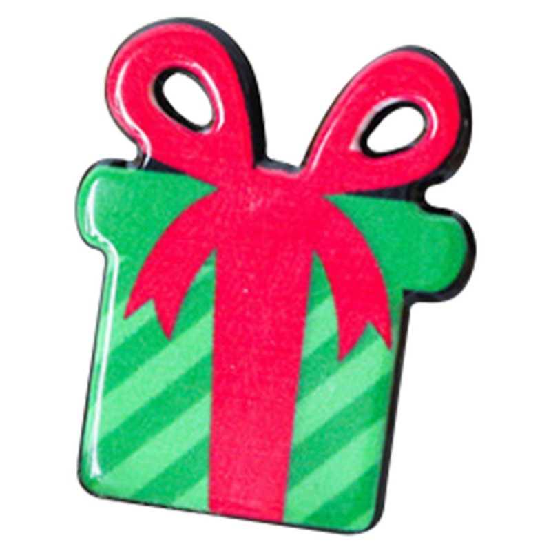 Новый Рождественский подарок Акриловые значки Pin броши Санта Клаус Снеговик Брошь с лосем Pin для детская футболка свитер пальто шарф Hat Декор