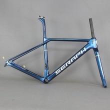 SERAPHF 塗料フラットは、ディスクカーボン道路フレーム自転車フレームセット新 Eps 技術ディスクロードバイクフレーム