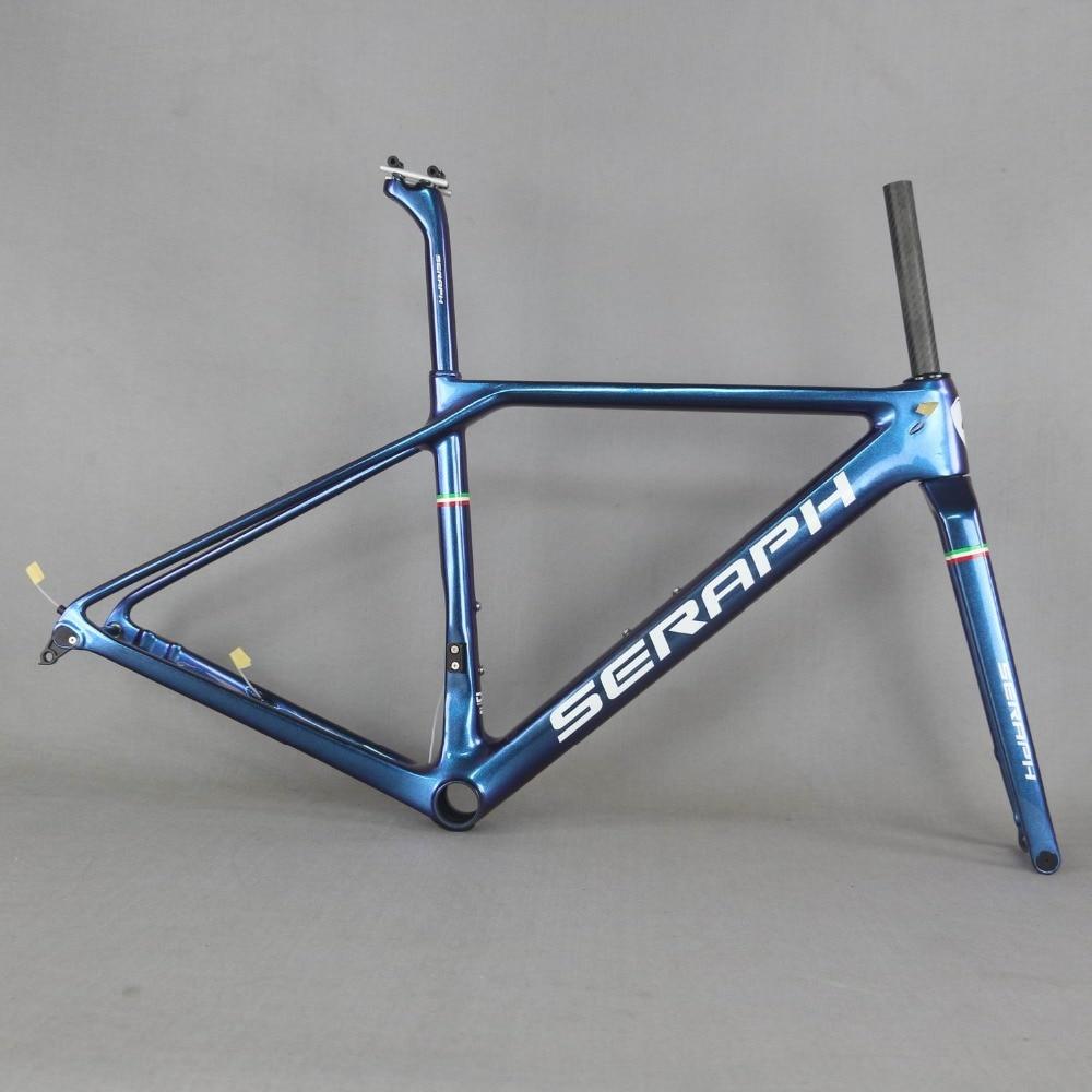 SERAPHF Paint Flat Mount disc carbon road frame  Bicycle Frameset   New EPS technology disc road bike frame