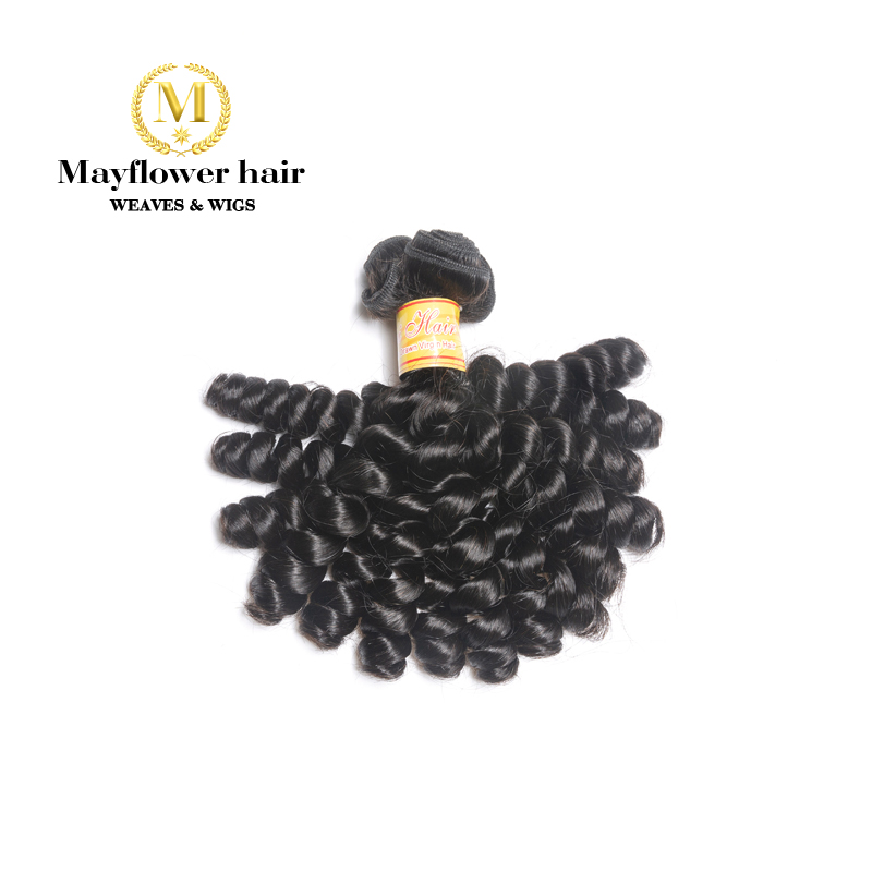 Mayflower 1/2/3/4 Bundle Funmi Hair Sassy Curl Natural Black 8-18