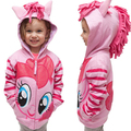 Crianças meninas Hoodies camisola para 2 - 10 anos meninas do bebê zíper camisola com capuz crianças roupas