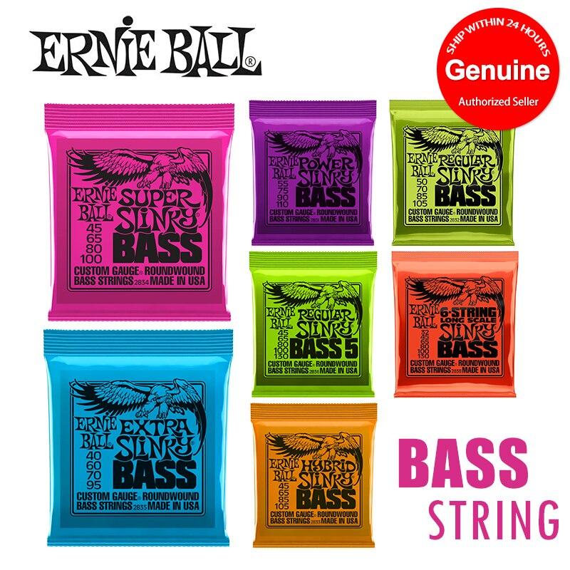 Original Ernie Ball 2831 2832 2833 2834 2835 2836 2838 hybride Slinky cordes de basse enroulées rondes [pour basse 5 cordes/4 cordes]