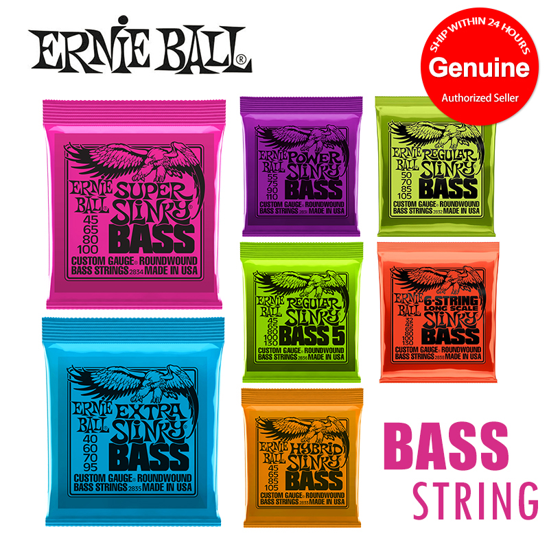 Original Ernie Ball 2831 2832 2833 2834 2835 2836 2838Hybrid Slinky Round Wound Bass Strings [For 5-String / 4-String Bass] moonembassy ukulele bass strings ubass string accessories