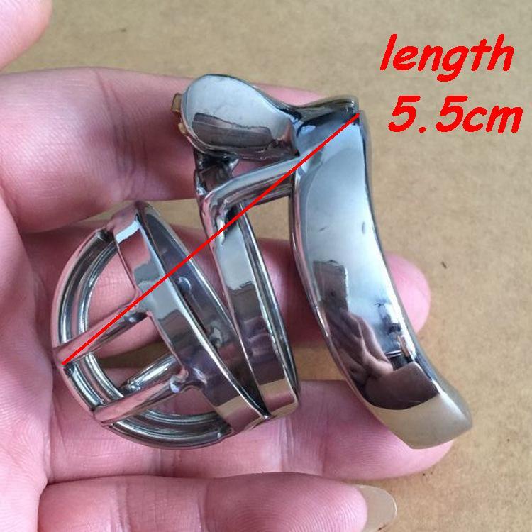 Buy Short Male CB chastity device stainless steel metal catheter penis lock chastity urethral penis ring  chastity belt men