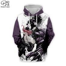 PLstar Cosmos 3D Printed Hoodie Mens Womens hip hop apparel boy for girl hoodies Venom jacket Plus size XS-7XL