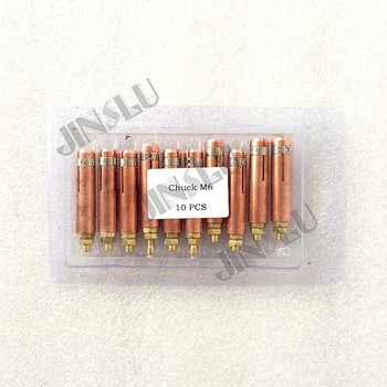 Collet M6 for Capacitor Discharge CD Stud Welding Gun Welding Torch for Stud Welding 10pcs