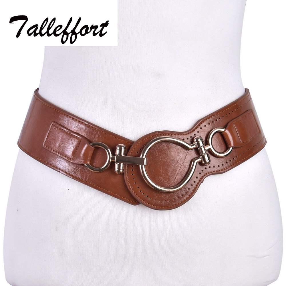 Fashion belt woman leather wide elastic s