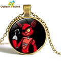 3 style Five Nights at Freddy's Necklace FNAF Bonnie Foxy Freddy Fazbear Bear Figure Necklace Pendant Toys Gifts for Friends