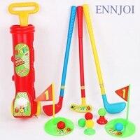 Novo Mini Plástico Brinquedo de Criança Esporte Clube de Golfe Clube de Golfe Conjunto Bola de Golfe 3 Clubes de Golfe e 6 Bolas de Golfe para Crianças Crianças Jogo de Esporte