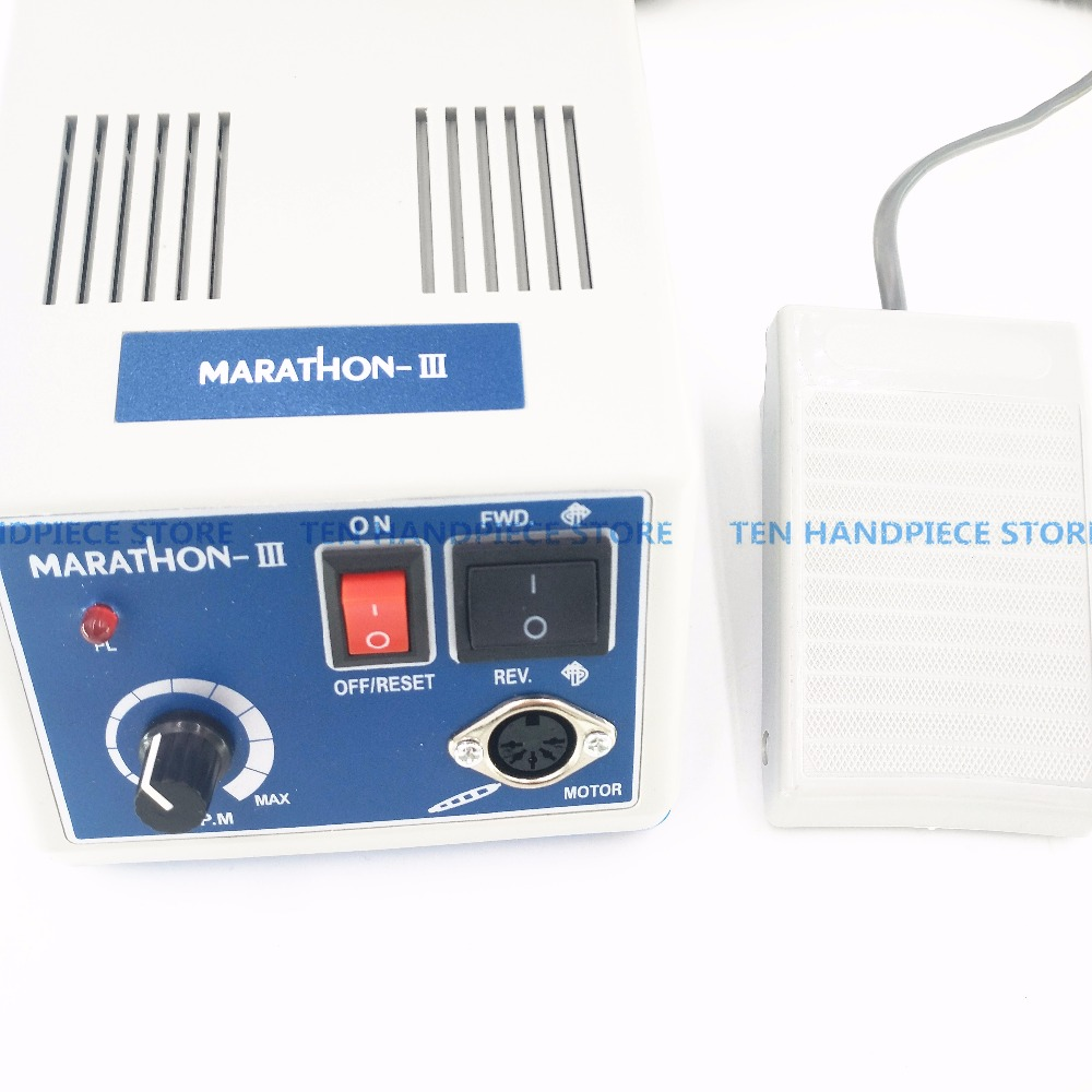 Image 3 - 2018 NEW Free shipping Dental Lab MARATHON Micromotor Machine N3 + 35K RPM Polishing Handpiece 110/220V-in Teeth Whitening from Beauty & Health