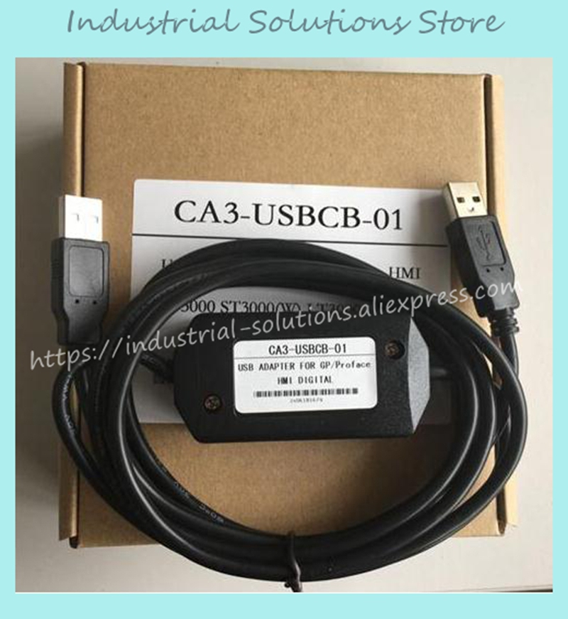 New 3000 cable gp3000 usb cable CA3-USBCB-01 For GP3000 ST3000 W LT3000 series touch screen HMI proface ca3 usbcb 01 for gp3000 st3000 w lt3000 series hmi touchpanel programmiing cable