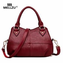 hot deal buy mellzu women designer leather handbags ladies shoulder bags women messenger bags ladies crossbody bags bolsa top-handle bags