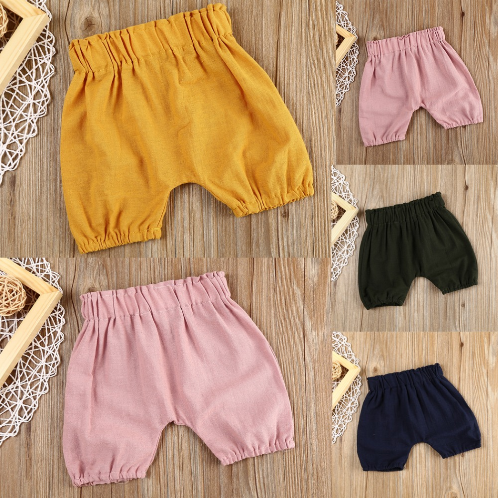Cheap Casual Children's   Shorts   Baby Girls/Boys Loose Mid Waist   Shorts   Kids Trousers Baby Toddlers Clothes Infant Panties