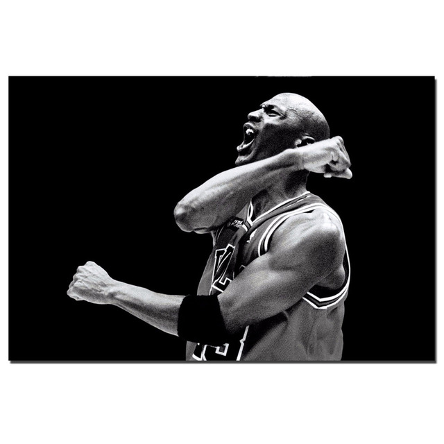 Michael Jordan Black and white Classic Poster Canvas Print for Room Decor  Wall Art Poster a4e44894a