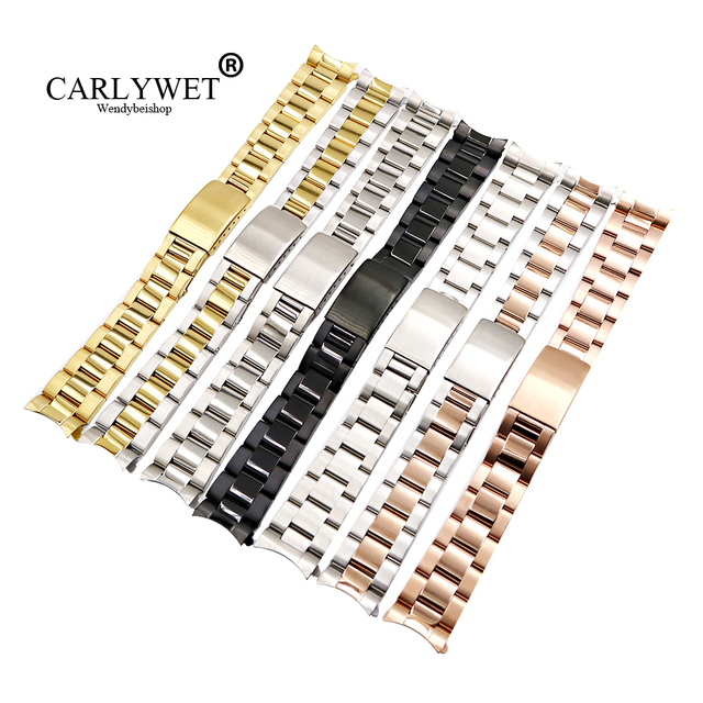 CARLYWET 13 17 19 20mm Wholesale 316L Stainless Steel Two Tone Rose Gold Silver