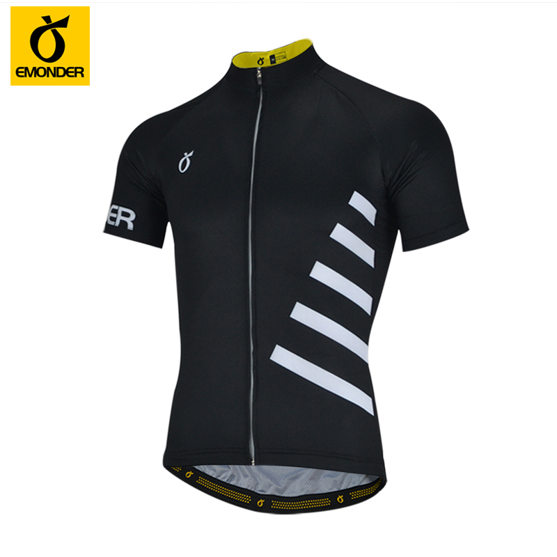 EMONDER Top Quality Pro Team Black Cycling jersey Short sleeve Bicycle Gear race fit fast speed road Quick Dry bicycle Jersey high quality custom wiggins pro team aero jersey short sleeve road cycling wear road bike shirt cycling gear free shipping