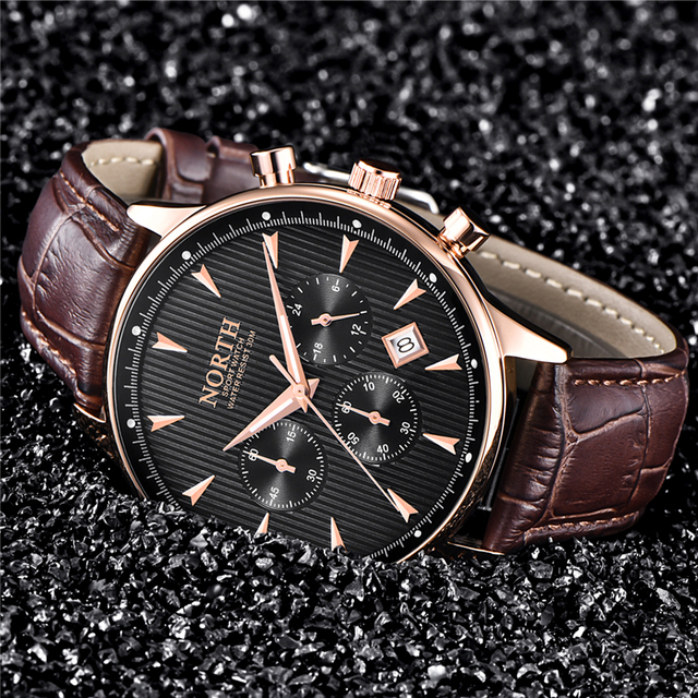 NORTH Luxury Watch for Men [Gold, Casual, Sport, Military Wrist Watch]